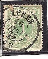 N° 26 - Obliétration DC YPRES 74 - 1869-1883 Léopold II