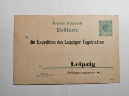 Deutsches Reich  Postkarte Leipzig - Wurtemberg