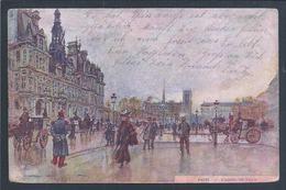Postal Stationery Feldpost Circulated Paris To Helgoland In 1915. World War I. Horse Carriages. Calèches. Pferdekutschen - Diligences