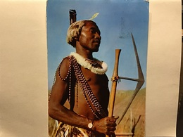 Pub Plasmarine.  Un Siècle Après Livingstone  SWAZILAND Guerrier + Timbres Swaziland - Swasiland
