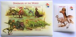 Sierra Leone 2001**Mi.3951-58 + Bl.505  Dinosaurs , MNH [17;37] 2. - Vor- U. Frühgeschichte