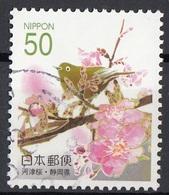 Giappone 2006 Sc. Z706 Kawazu Cherry Blossoms (Shizuoka) With Bird Used Japan Nippon - Plants