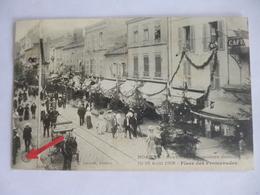 Roanne. Souvenir Du Concours Musical. 15 - 16 Août 1908. Places Des Promenades. - Roanne