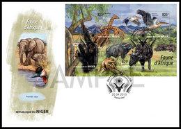 NIGER 2015 - African Fauna, Chimpanzee, FDC - YT 2794-7, Mi 3465-8 - Chimpancés