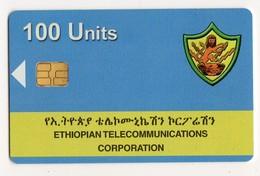 ETHIOPIE REF MV CARDS ETH-01 100U ETC LOGO Date 2003 - Etiopía