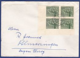 Brief Mehrfachfrankatur MiNr. 383, Eckrand (aa0162) - Storia Postale
