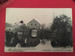 CPA Circulée 1904 St-Ghislain  La Vanne Sur La Haine Animée  Saint Ghislain - Saint-Ghislain