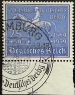 DR 1939 Dt. Derby Sonderstpl. Mi.Nr.: 698  Gest. Used  Mi.Pr.: 20.--€ - Oblitérés