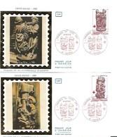 France-FDC-1980 - Yt  2116/2117 - Croix Rouge (2 Enveloppes) - FDC
