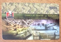 ARMÉE CERCLE DU 6 SLCAT CHARS MILITAIRE SOLDATS CARTE PASSMAN 1 MOIS TÉLÉCARTE - Armée
