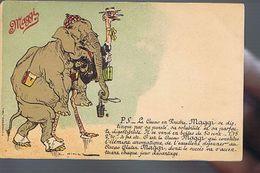 Cacao Maggi - Elephant Humanisé - Autruche - Illustrateur Vimar - Publicidad