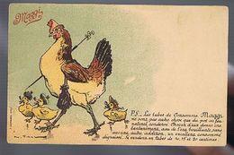Potage  Maggi - Poule Et Poussins Humanisés - Illustrateur Vimar - Advertising
