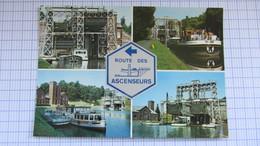 Pont , Peniche, Canal, Ecluse, THIEU . - Belgique
