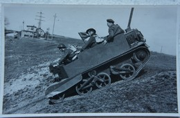 Photo ABL BREN CARRIER Chenillette Circa 1945-50 Belgische Leger Armée Belge Militaria - Guerre, Militaire