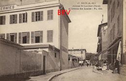 Photo: Nice, Avenue St.-Lambert, Avenue Des Acacias, Photo D'une Ancienne Carte Postale, 2 Scans - Lieux