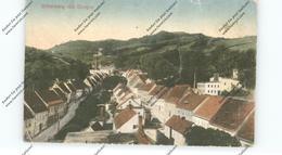 NIEDER-SCHLESIEN - PETERWITZ-SILBERBERG, Ortsansicht Mit Donjon, 1919, Druckstelle - Schlesien