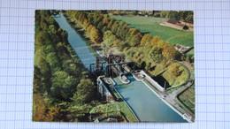 Pont , Peniche, Canal, Ecluse, HOUDENG-AIMERIES . - Belgique