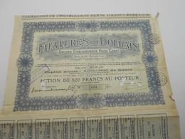 """Action De 500F """"Filature De Dolhain"""" Anciennement Henri Cabay 1928 (Verviers,textile). N° 7081 - Textile"""