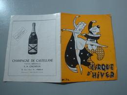PROGRAMME CIRQUE D'HIVER BOUGLIONE 1948 /1949 LIONS CLOWNS RIMPER CARLO JACOLETTI - Programmes