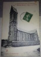 50 Manche CPA Maupertus  L'église Et Son Clocher La Basse Normandie Pittoresque  1913 - Autres Communes