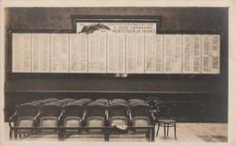 CARTE PHOTO ARTS ET METIERS CHALONS ANGERS AIX CLUNY LILLE 1914 -1918 Monument Morts Pour La France - Ecoles