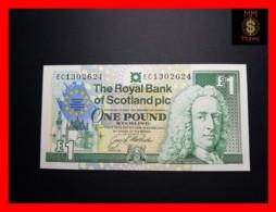 SCOTLAND 1 £  8.12.1992  P. 356 *COMMEMORATIVE*  RBS   UNC - 1 Pound
