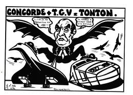 LARDIE (JIHEL) - L12 - TGV - Concorde + TGV = TONTON (Mitterand) - Illustrateurs & Photographes