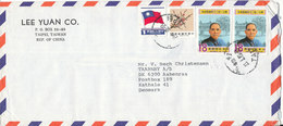 China Taiwan Air Mail Cover Sent To Denmark 1989 ?? - 1945-... Republic Of China