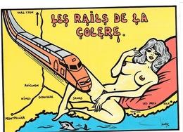 LARDIE (JIHEL) - L12 - TGV - Les Rails De La Colère TGV Sud (Montpellier, Bancaire, AVIGNON Etc.) - Illustrateurs & Photographes