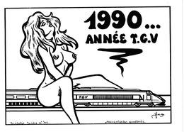 LARDIE (JIHEL) - L12 - TGV - 1990 Année TGV (format Paysage) - Illustrateurs & Photographes