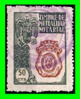 ESPAÑA SELLO FISCAL CLASICO - TIMBRE MUTUALIDAD NOTARIAL - 50 Ctm. - Steuermarken/Dienstpost