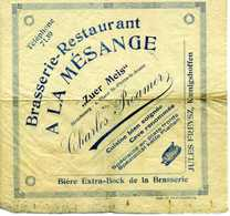 Publicité Restaurant A La Mésange à Strasbourg - Alimentos