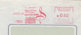 Supertone 1969 Violinschlüssel - Musik - Storia Postale