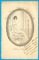 Carte De Visite Commerciale Grand Format : Georges LEVY - Antiquaire - 06 BEAULIEU-sur-Mer * Madame Récamier - Visitenkarten