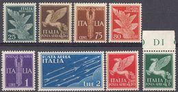 ITALIA - 1930/1932 - Serie Completa Formata Da 8 Valori Nuovi MNH: Yvert 11A/17. - Posta Aerea