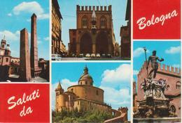 553 - BOLOGNA - VEDUTINE MULTIVUES - LE DUE TORRI - FORO DEI MERCANTI - FONTANA NETTUNO - BASILICA S. LUCA - NON VIAGG. - Bologna