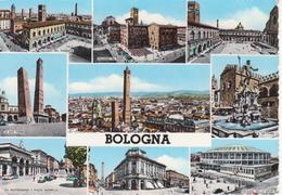 554 - BOLOGNA - VEDUTINE MULTIVUES - LE DUE TORRI - FONTANA NETTUNO - PIAZZA MAGGIORE - PALAZZO DELLO SPORT - VIAGG 1964 - Bologna