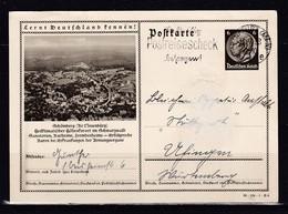 453O * SCHÖMBERG * HÖHENKURORT IM SCHWARZWALD * AUF GANZSACHE * 1938 **! - Schömberg