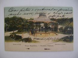 "BRAZIL / BRASIL - POST CARD FOR PARA ""PRAÇA REPUBLICA - PAVILHAO EUTERPE"" IN BELEM 1908 IN THE STATE - Belém"