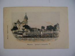 """BRAZIL / BRASIL - POST CARD FOR MANAUS """"IGREJA S. SEBASTIAO"""" 191? IN THE STATE - Manaus"""