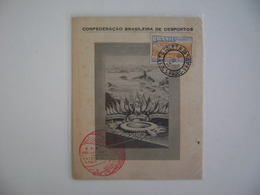 BRAZIL / BRASIL - MAXIMUN TYPE COMMEMORATIVE SHEET WORLD FOOTBALL SOCCER CHAMPIONSHIP 24-6-1950 IN THE STATE - Fußball-Weltmeisterschaft