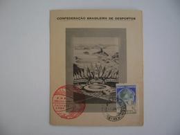 BRAZIL / BRASIL - MAXIMUN TYPE COMMEMORATIVE SHEET WORLD FOOTBALL SOCCER CHAMPIONSHIP 24-6-1950 IN THE STATE - 1950 – Brazil