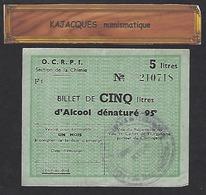 Billet-matière OCRPI Section Chimie - Bons & Nécessité