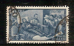 """(Fb).Repubblica.1948.""""Risorgimento"""".100 Lire Grigio Azzurro Usato,ben Centrato (88-18) - 6. 1946-.. Repubblica"""