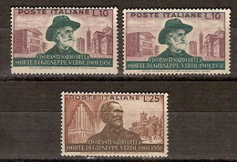 """(Fb).Repubblica.1951.Serie """"Verdi"""".10 Lire Due Val + 25 Lire,nuovi,gomma Integra (229-18) - 6. 1946-.. Republik"""