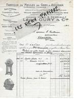 88 - Vosges - BAINS-LES-BAINS - Facture GURY - Fabrique De Meules à Aiguiser, Exploitation De Carrière - 1941 - REF 142A - 1900 – 1949