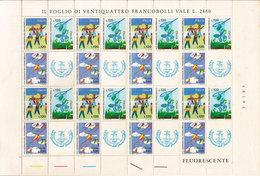 (Fb).Repubblica.1977.Giornata Del Francobollo.Foglio Completo,nuovo Su Carta Fluorescente (2-20) - Journée Du Timbre