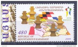 2009.Mountainous Karabakh, Chess Olympiad Dresden'2008, 1v, Mint/** - Arménie
