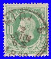 "COB N° 30 - Belle Oblitération - Ambulant ""MIDI 5"" - 1883 Leopold II"