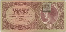 Hongrie - Billet De 10000 Pengo Avec Timbre - 15 Juillet 1945 - P119 - Ungarn